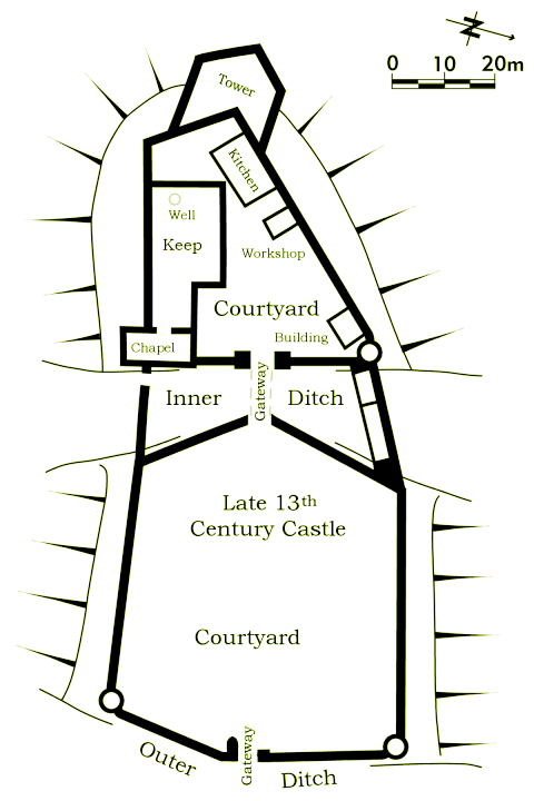 Late 13th century tong castle for 11th century castles floor plan