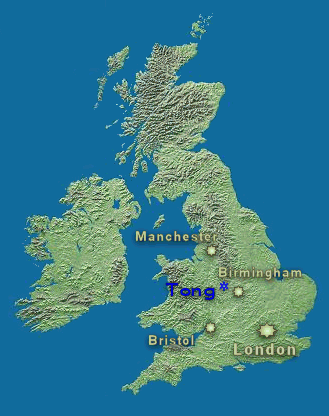 Location of Tong in the UK